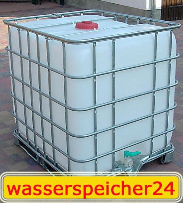 1000 liter ibc container wei tonne zisterne wasserfass auf metallunterbau in erfurt sonstiges. Black Bedroom Furniture Sets. Home Design Ideas