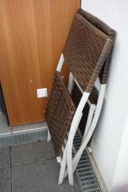 2 Balkonstühle Rattan (