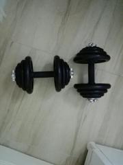 2 Hanteln - 42kg.,