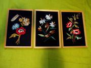 3 gestickte Bilder