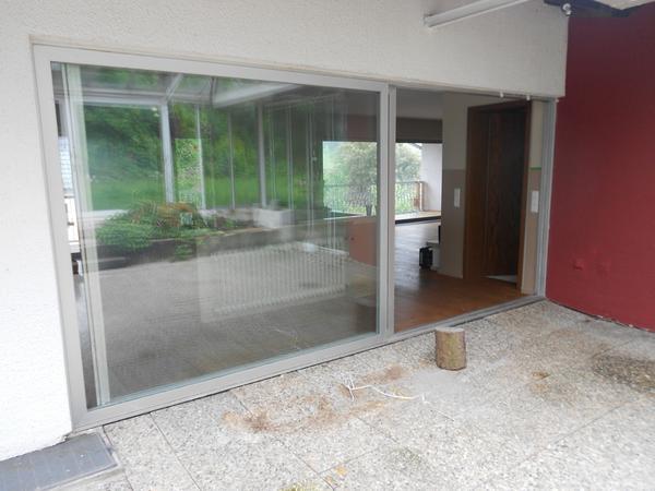 3 gro e alu schiebefenster mit rahmen zusammen oder. Black Bedroom Furniture Sets. Home Design Ideas
