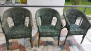 3 Korbstühle Rattan,