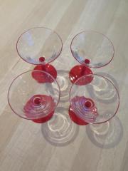 4 Gläser, Weingläser,