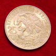 4 Mexikanische Silbermünzen