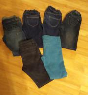 6 Mädchen-Hosen