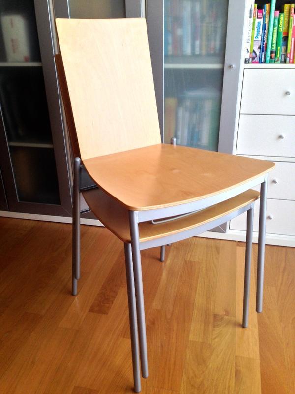 6 st hle assar von ikea sitzfl che und r ckenlehne der st hle aus birken mehrschichtholz. Black Bedroom Furniture Sets. Home Design Ideas