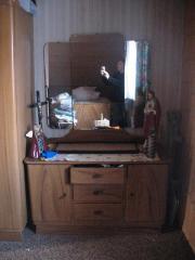 Altes Schlafzimmer aus