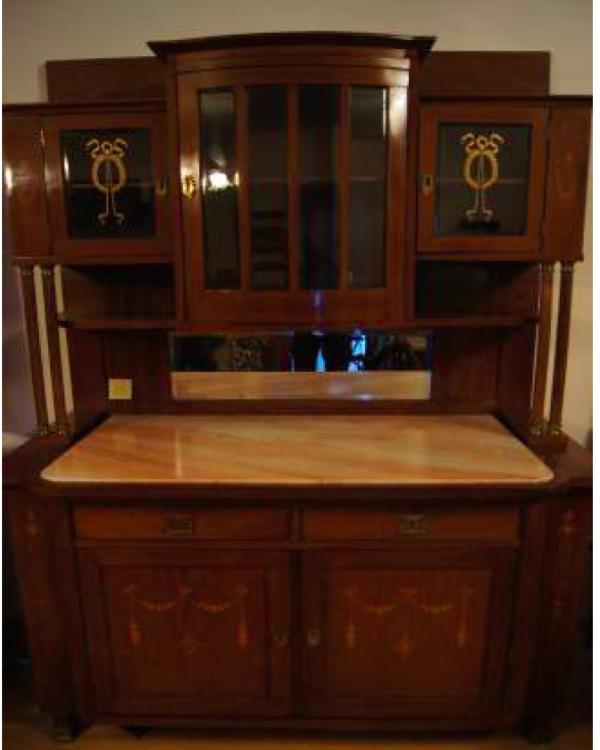 anrichte um 1900 jugendstil mit marmorplatte in bregenz sonstige m bel antiquarisch kaufen und. Black Bedroom Furniture Sets. Home Design Ideas