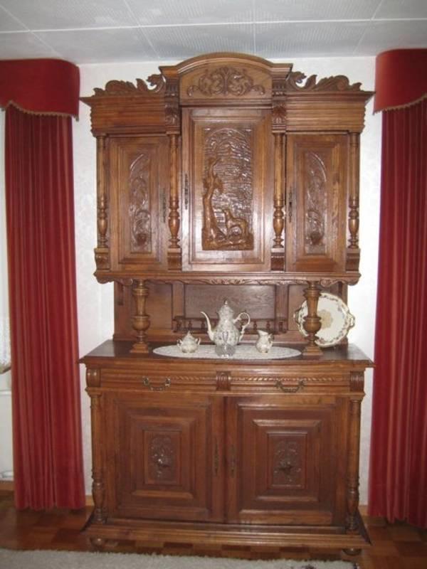 antiker eichenschrank b ffet in blieskastel stilm bel bauernm bel kaufen und verkaufen ber. Black Bedroom Furniture Sets. Home Design Ideas