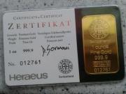 Argor-Heraeus-Goldbarren,