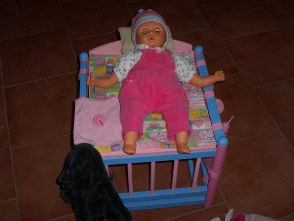 baby born wickeltisch mit baby bee puppe in kirchberg. Black Bedroom Furniture Sets. Home Design Ideas