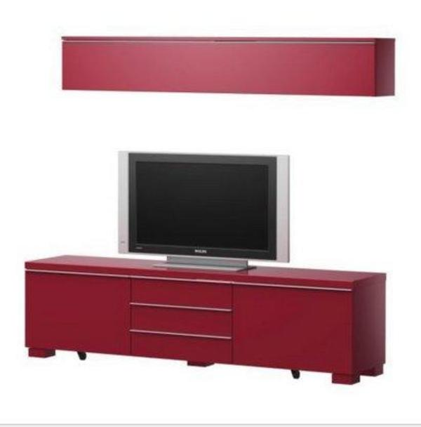besta burs tv bank und wandregal kombi in bordeaux rot in hamburg phono tv videom bel. Black Bedroom Furniture Sets. Home Design Ideas