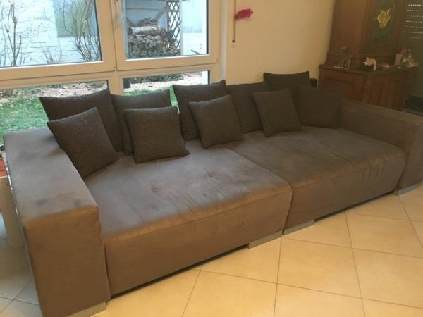 big sofa braun kaufen gebraucht und g nstig. Black Bedroom Furniture Sets. Home Design Ideas