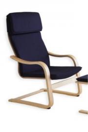blauer Stuhl/Sessel