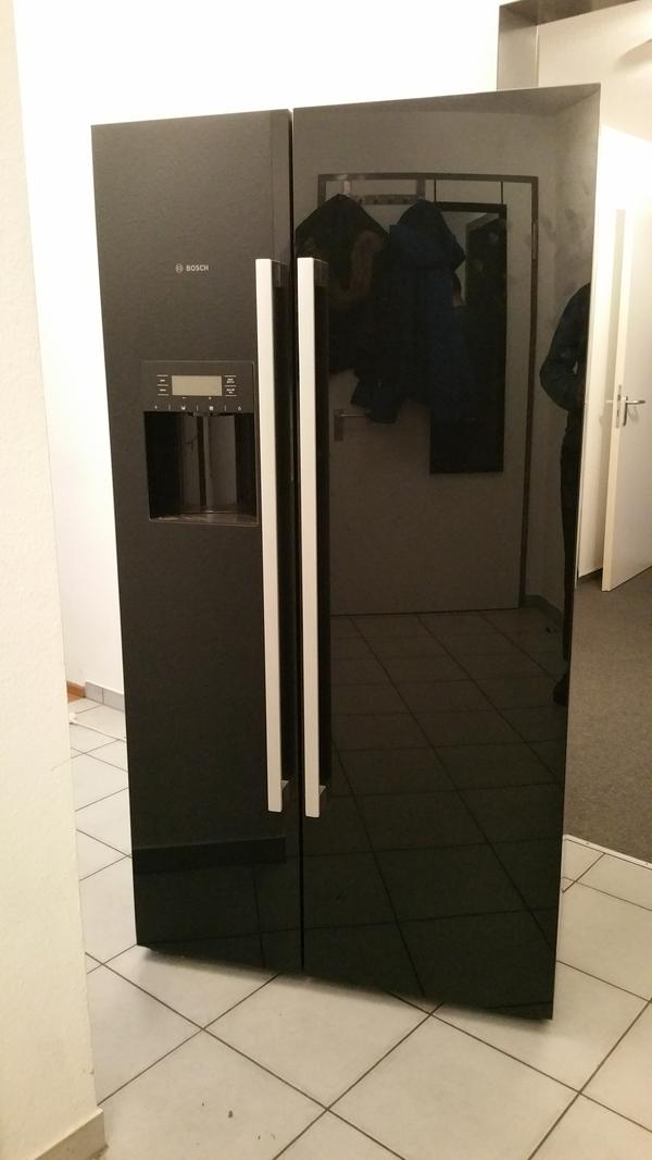 bosch side by side k hlschrank schwarz glas in karlsruhe. Black Bedroom Furniture Sets. Home Design Ideas