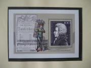 Briefmarken Mozartblock
