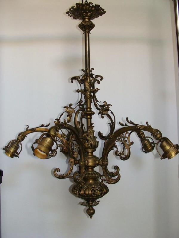 bronze lampe historismus gr nderzeit kronleuchter l ster. Black Bedroom Furniture Sets. Home Design Ideas