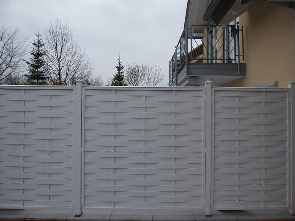 br gmann longlife sichtschutzzaun kunststoff in neckarbischofsheim sonstiges f r den garten. Black Bedroom Furniture Sets. Home Design Ideas