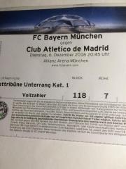 Championsleagueticket Bayern München-