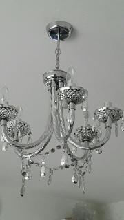 deckenlampe in silber