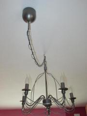 Deckenlampe Kronleuchter silber