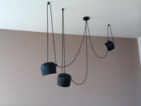 deckenleuchte aim von flos schwarz 3 flammig in mainz. Black Bedroom Furniture Sets. Home Design Ideas