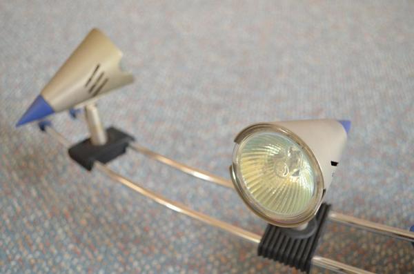 deckenleuchte lampe mit 4 schwenkbaren spots g nstig abzugeben in gr benzell lampen kaufen. Black Bedroom Furniture Sets. Home Design Ideas