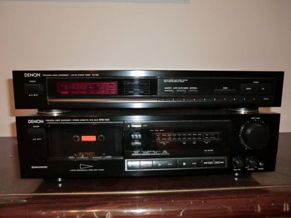 denon hifi anlage kassettendeck drm 500 plus stereo tuner. Black Bedroom Furniture Sets. Home Design Ideas