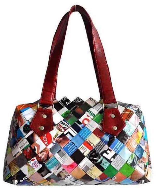 designer tasche aus papier candy wrapper fairtrade handtasche aus papier upcycling tasche in. Black Bedroom Furniture Sets. Home Design Ideas
