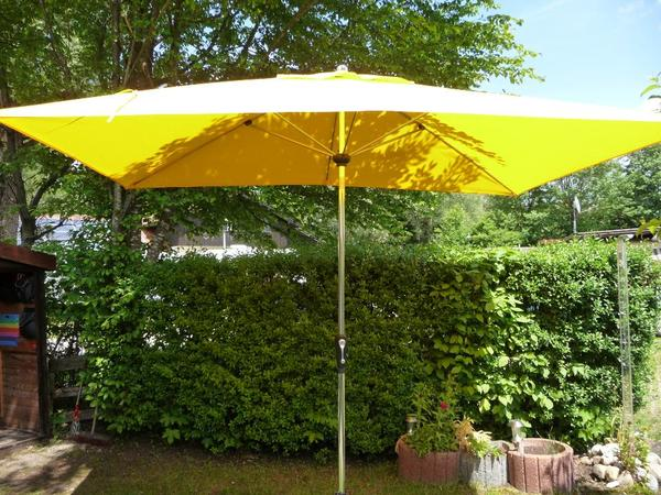 doppler sonnenschirm rechteckig alu kurbelschirm 2 x 3 m gelb sun line in m nchen sonstiges. Black Bedroom Furniture Sets. Home Design Ideas