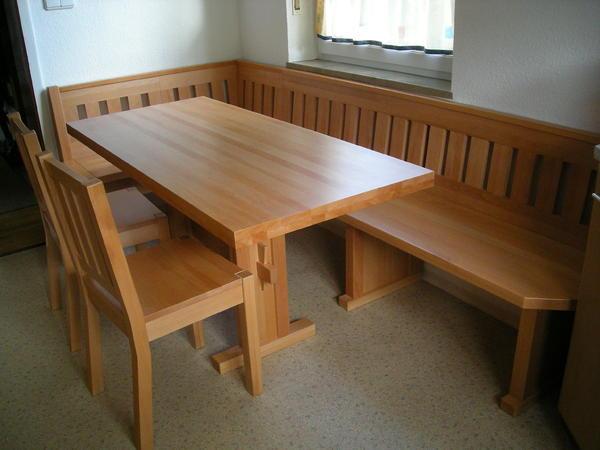 eckbank mit tisch und st hlen aus buche massiv ma anfertigung in amberg speisezimmer. Black Bedroom Furniture Sets. Home Design Ideas