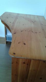 Eckschreibtisch - Massivholz Kiefer