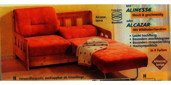 g stebett schlafcouch verwandlungssofa couch sofa in. Black Bedroom Furniture Sets. Home Design Ideas