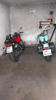 Garagenplatz für Motorrad/