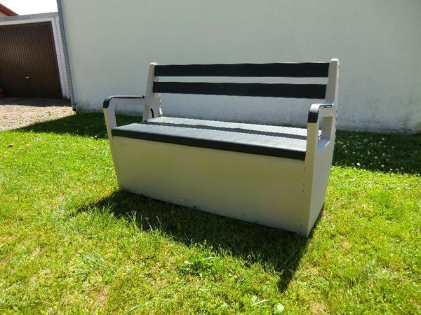 gartenbank mit staufach. Black Bedroom Furniture Sets. Home Design Ideas