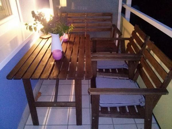 gartenm bel holz sitzgruppe. Black Bedroom Furniture Sets. Home Design Ideas
