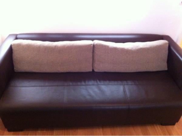 Gebrauchtes Ikea Sofa Ngelholm Braunes Kunstleder 3 Sitzer In Dornstetten Ikea M Bel Kaufen