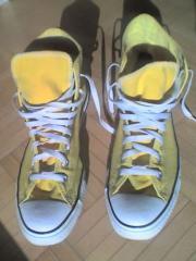 Gelbe Sneakers Converse Chucks high ALL STAR Gr. 42 gut erhalten günstig gebraucht kaufen  Dornbirn