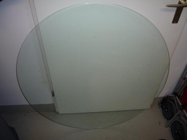 glasplatte rund d 104 cm sicherheitsglas in ettlingen alles m gliche kaufen und verkaufen. Black Bedroom Furniture Sets. Home Design Ideas