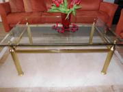 messing glastisch haushalt m bel gebraucht und neu kaufen. Black Bedroom Furniture Sets. Home Design Ideas
