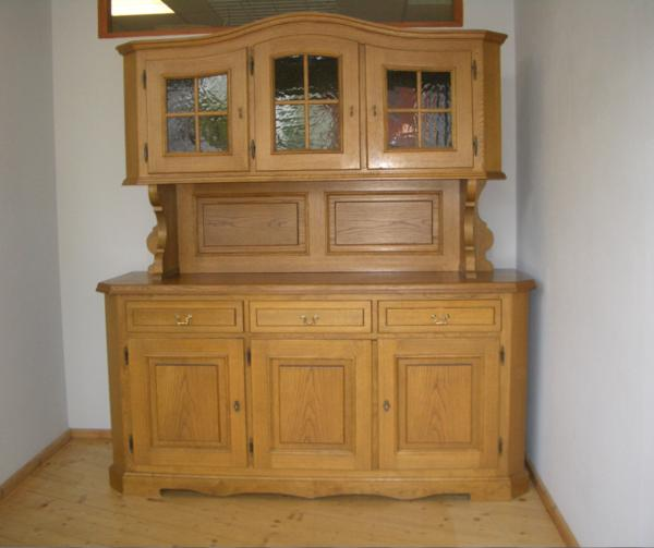 gr k chen buffet vitrine anrichte kommode bauernm bel schrank landhaus m bel 3 in dachau. Black Bedroom Furniture Sets. Home Design Ideas