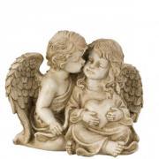 Grabfigur Engelpaar Geschwisterpaar,