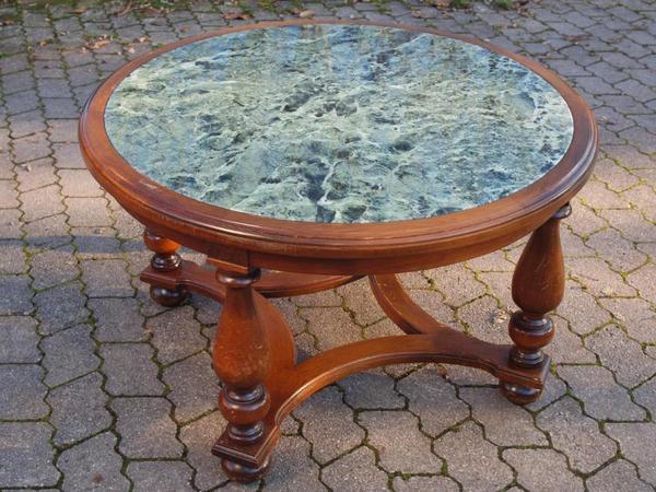 Gr ner marmortisch rund in altom nster couchtische for Marmortisch rund