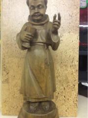 Handgeschnitzter Mönch