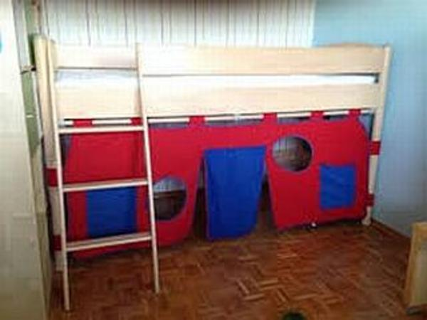 hochbett spielbett paidi bett buche massiv h he variabel umbaubar bis 125 cm in malsch kinder. Black Bedroom Furniture Sets. Home Design Ideas