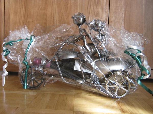 Hochzeitsgeschenk metall motorrad dekoartikel for Dekoartikel metall