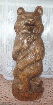Holz Bär handgeschnitzt