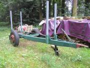 Holzanhänger - Rungenwagen - Spältenanhänger -