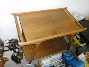 Holztisch Holzwagen Tisch