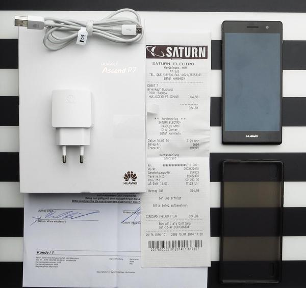 huawei ascend p7 h lle ovp mit rechnung wie neu in mannheim sonstige mobiltelefone kaufen. Black Bedroom Furniture Sets. Home Design Ideas